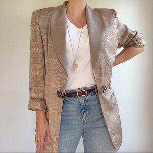 Vintage | women's metallic oversized blazer
